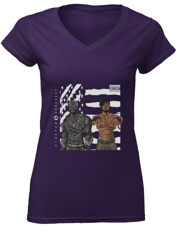 Black Panther and Outkast Stankonia women v-neck shirt